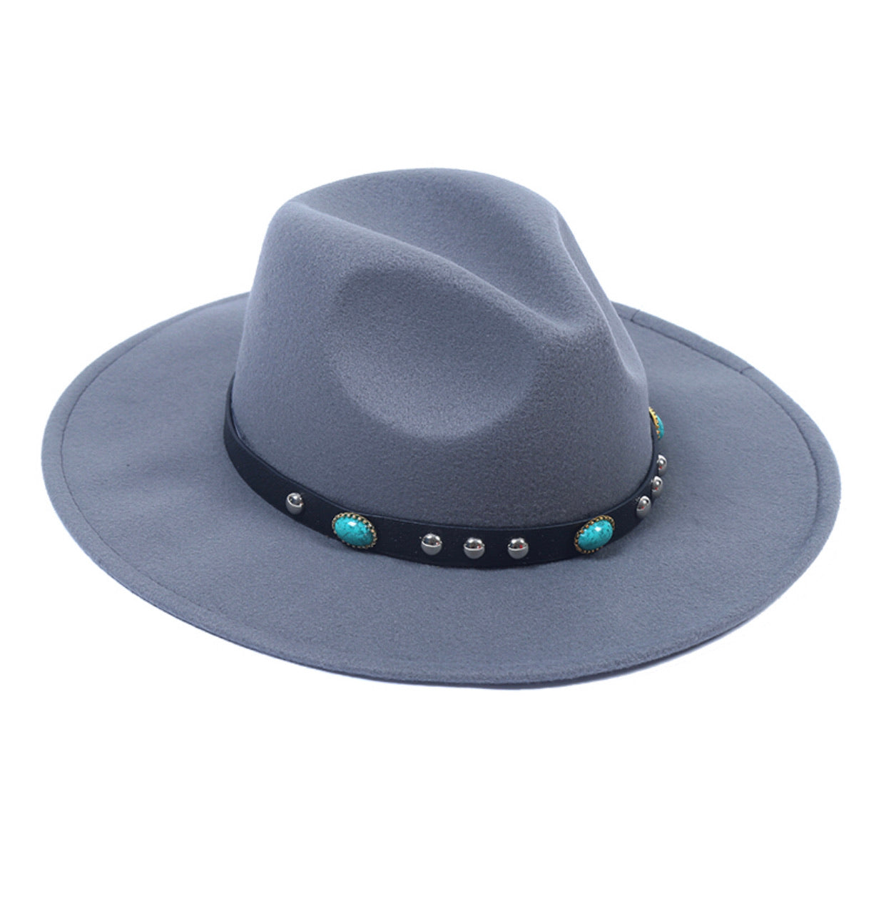 Cappello Fedora Studs - Wanderlust Factory® ☽ Mobile Fashion Boutique