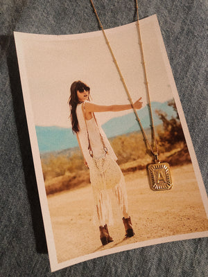 Collana - Letter tag - Wanderlust Factory ● Mobile Fashion Boutique
