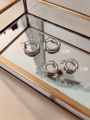Orecchini Hoops smooth 15 mm