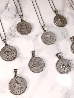 Collana - 12 segni dello Zodiaco - waterproof *silver* - Wanderlust Factory® ☽ Mobile Fashion Boutique