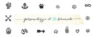 Bracciale personalizzato SLIM - font MINI - Wanderlust Factory ● Mobile Fashion Boutique