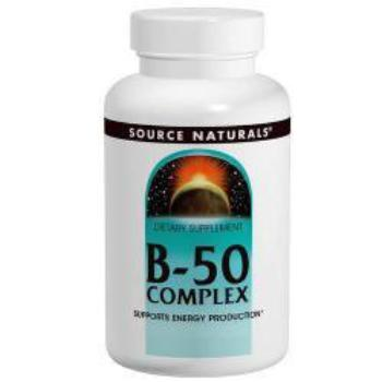Source Naturals, B-50 Complex, 50 mg, 100 Tabletten, , CLAIRESSUPPLEMENTS, CLAIRESSUPPLEMENTS