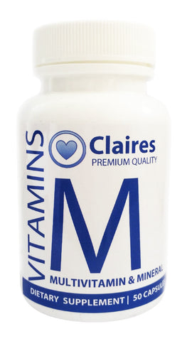 Multivitamin & Mineral, Vitamins, CLAIRESSUPPLEMENTS, CLAIRESSUPPLEMENTS