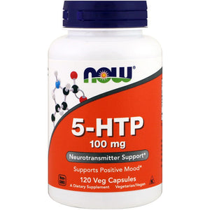 Now Foods 5-HTP 100mg, , Now Foods, CLAIRESSUPPLEMENTS