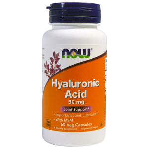 Now Foods, Hyaluronic Acid, 50 mg, 60 Veg Capsules, , Now Foods, CLAIRESSUPPLEMENTS