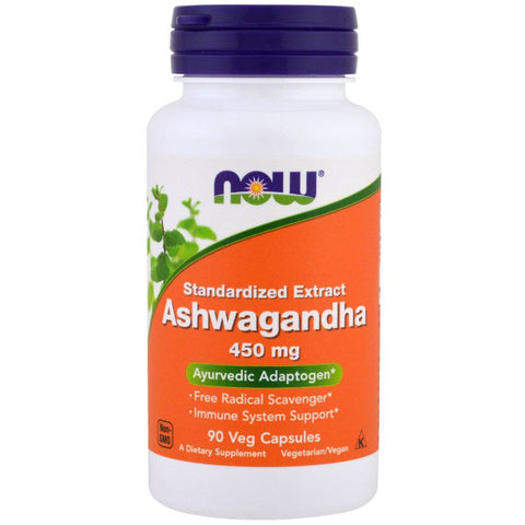 Now Foods, Ashwagandha, 450 mg, 90 Veg Capsules, Now Foods - CLAIRESSUPPLEMENTS