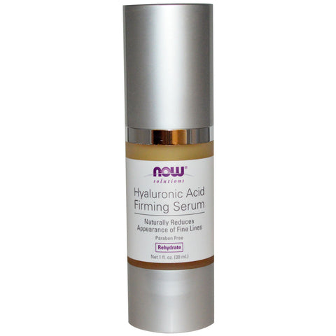 Now Foods, Solutions, Hyaluronic Acid Firming Serum, 1 fl oz (30 ml) - CLAIRESSUPPLEMENTS