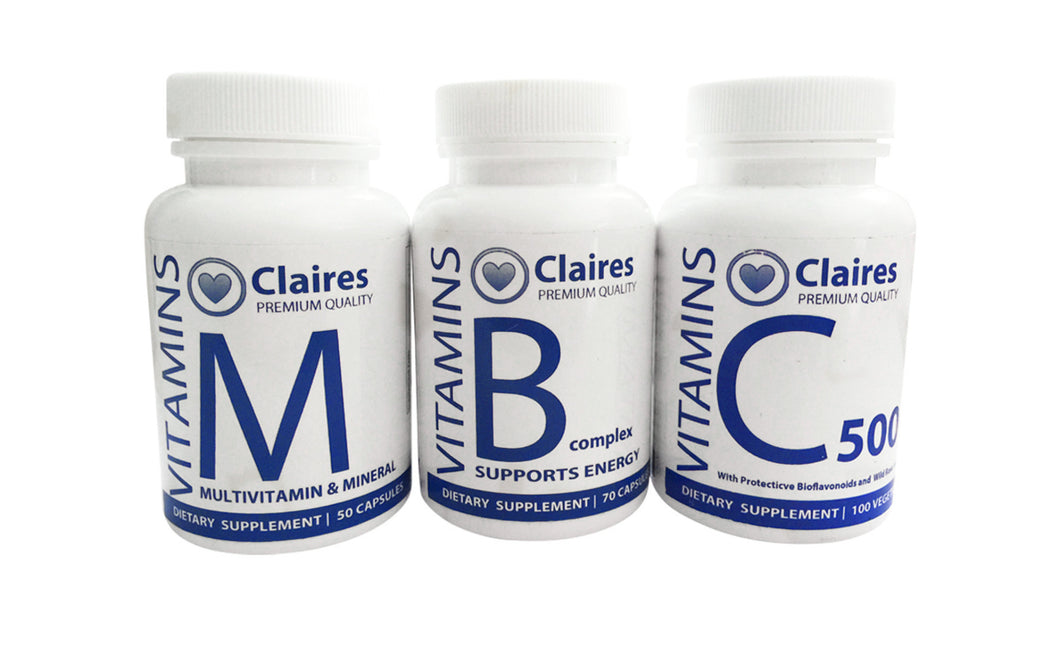 ClairesVITAMINS ENERGY Pack, Vitamins, CLAIRESSUPPLEMENTS, CLAIRESSUPPLEMENTS