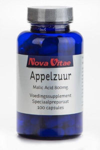 Appelzuur malic acid 800 mg, Supplements, Nova Vitae, CLAIRESSUPPLEMENTS