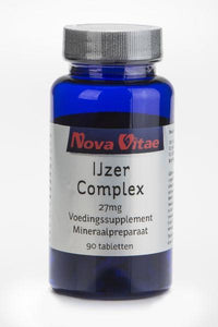 IJzer complex 27 mg, Supplements, Nova Vitae, CLAIRESSUPPLEMENTS