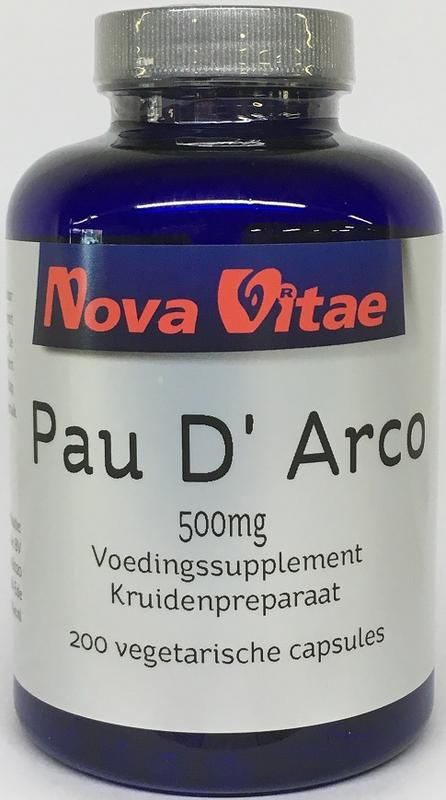 Pau d arco 500 mg extract 5:1, Supplements, Nova Vitae, CLAIRESSUPPLEMENTS
