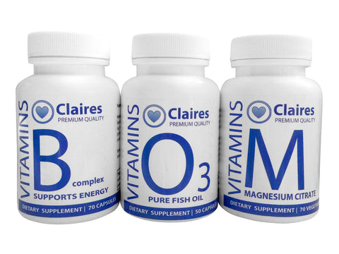 ClairesVITAMINS BOM : Stress en Vermoeidheid, Vitamins, CLAIRESSUPPLEMENTS, CLAIRESSUPPLEMENTS