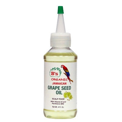 B's Organic Jamaican Grape Seed Oil 4 oz