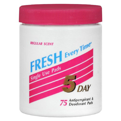 5 Day Antiperspirant Deodorant Pads Regular Scent 75 ct.
