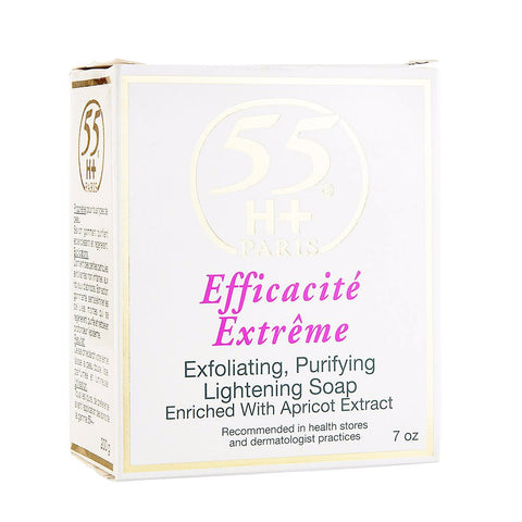 55H+ Efficacite Extreme Exfoliating Purifying Lightening Soap 7 oz
