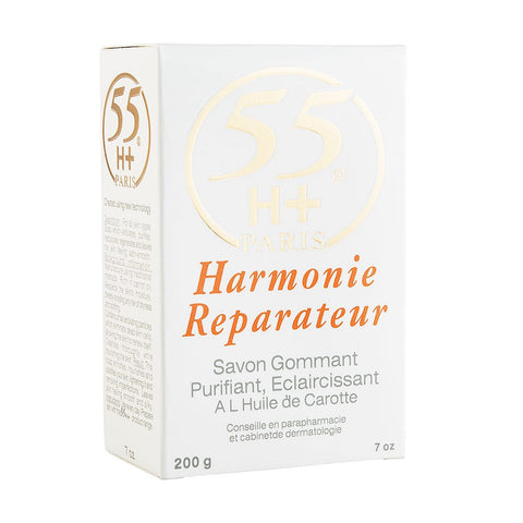55H+ Harmonie Reparateur Exfoliating Purifying Lightening Soap With Carrot Oil 7 oz