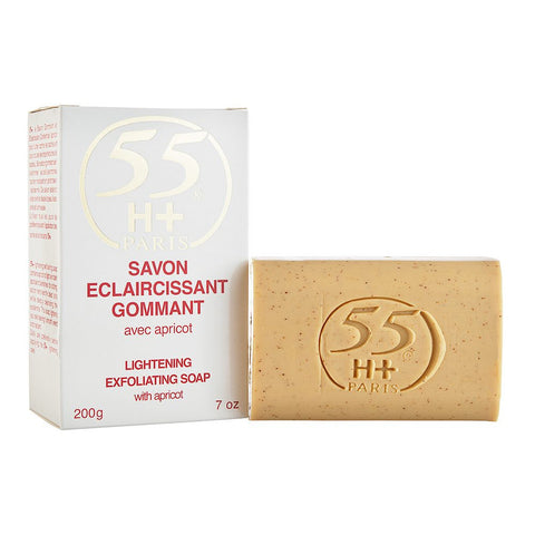 55H+ Lightening Exfoliating Soap with Apricot 7 oz
