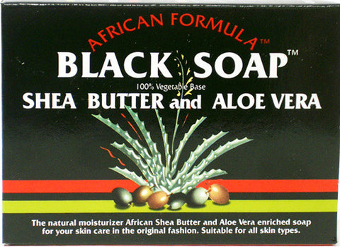 African Formula Black Soap Shea Butter and Aloe Vera Net Wt. 3.5 Oz.