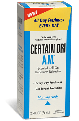 Certain Dri A.M. Anti-Perspirant Roll-On Morning Fresh Scent 2.5 oz.