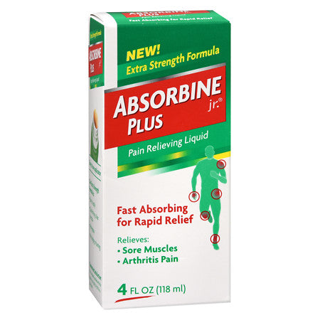 Absorbine Jr Plus Pain Relieving Liquid 4 oz
