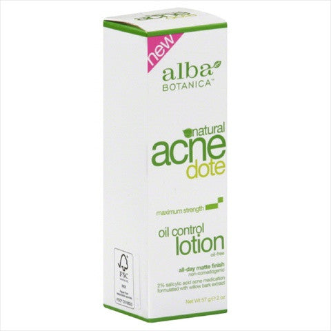 Alba Botanica AcneDote Oil Maximum Strength Control Lotion 2 oz