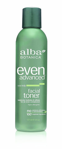 Alba Botanica Even Advanced Sea Kelp Facial Toner 6 oz