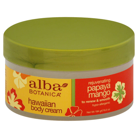 Alba Botanica Hawaiian Body Cream Rejuvenating Papaya Mango 6.5 oz