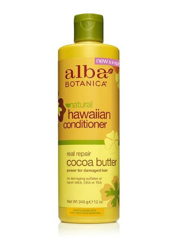 Alba Botanica Hawaiian Conditioner Real Repair Cocoa Butter 12 oz