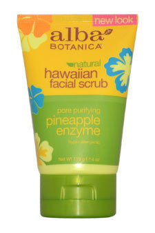Alba Botanica Hawaiian Facial Scrub Pore Purifying Pineapple Enzyme 4 oz