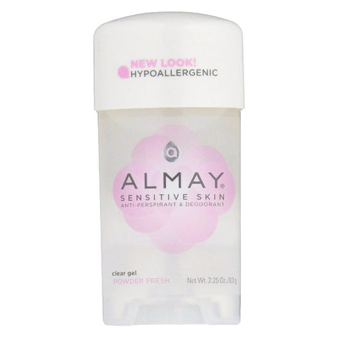 Almay Sensitive Skin Clear Gel Antiperspirant Deodorant Powder Fresh 2.25 oz