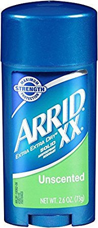 Arrid XX Solid Antiperspirant Deodorant Unscented 2.6 oz