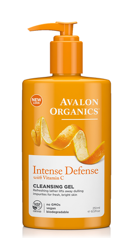 Avalon Organics Intense Defense Cleansing Gel with Vitamin C 8.5 oz