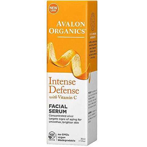 Avalon Organics Intense Defense With Vitamin C Facial Serum 1 oz