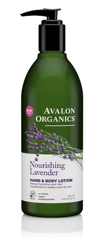 Avalon Organics Nourishing Lavender Hand & Body Lotion 12 oz