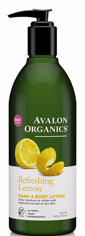 Avalon Organics Refreshing Lemon Hand & Body Lotion 12 oz
