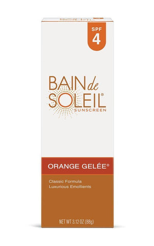Bain de Soleil Sunscreen Orange Gelee SPF 4 Classic Formula 3.12 oz