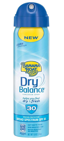 Banana Boat Dry Balance Sunscreen Spray SPF 30 1.8 oz