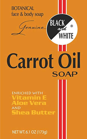 Black & White Carrot Oil Soap 6.1 oz