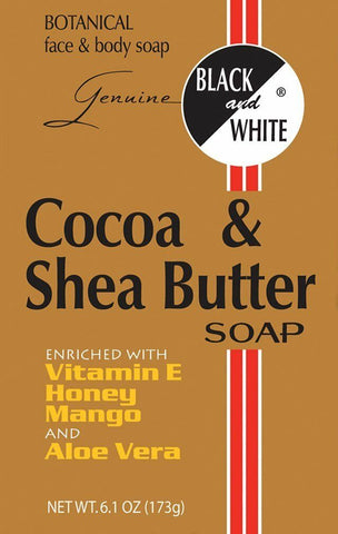 Black & White Cocoa & Shea Butter Soap 6.1 oz
