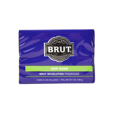 Brut Bar Soap Brut Revolution Fragrance, 2 Bars 3.5 oz Each