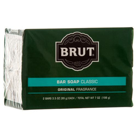 Brut Bar Soap Classic Original Fragrance, 2 Bars 3.5 oz Each