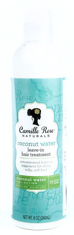 Camille Rose Naturals Coconut Water Leave-In Detangling Hair Treatment 8 oz