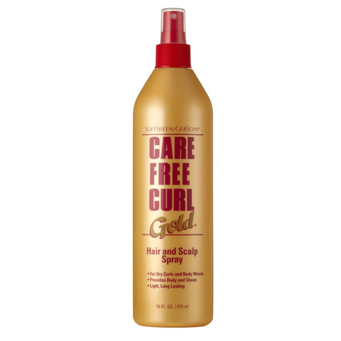 Care Free Curl Gold Hair and Scalp Spray 16 oz