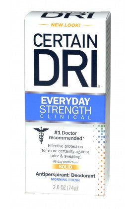 Certain Dri Everyday Strength Clinical Solid Antiperspirant Morning Fresh 2.6 oz