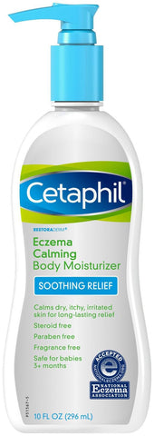 Cetaphil Eczema Calming Body Moisturizer Soothing Relief 10 oz