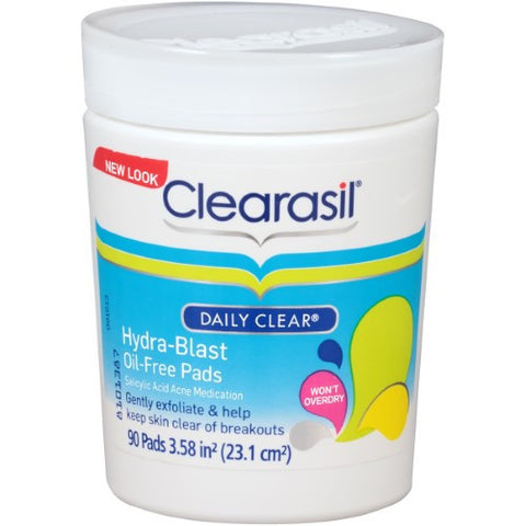 Clearasil Daily Clear Hydra-Blast Oil-Free Pads, 90 Pads