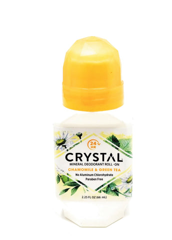 Crystal Mineral Deodorant Roll-On Chamomile & Green Tea 2.25 oz