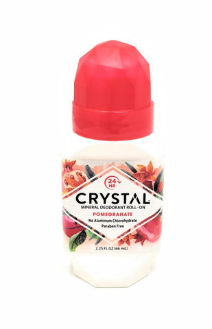 Crystal Mineral Deodorant Roll-On Pomegranate 2.25 oz
