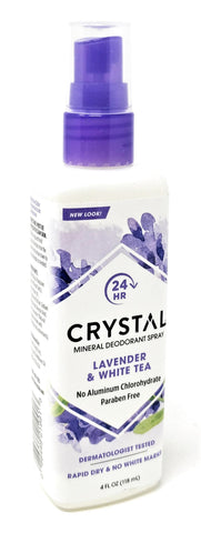 Crystal Mineral Deodorant Spray Lavender & White Tea 4 oz