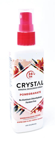 Crystal Mineral Deodorant Spray Pomegranate 4 oz
